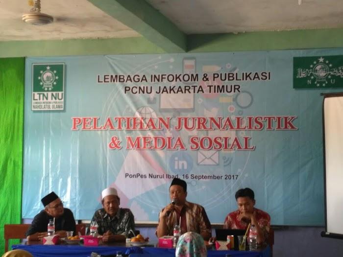 LTNU Jaktim Gelar Pelatihan Jurnalistik dan Media Sosial