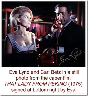 Eva Lynd & Carl Betz, Lady From Peking signed WM