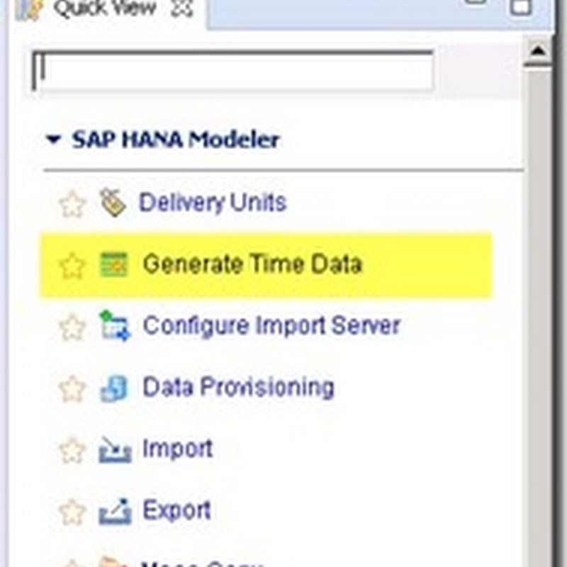 Generate Gregorian Time Data in SAP HANA