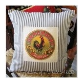 Vintage French Ticking Pillow #1b