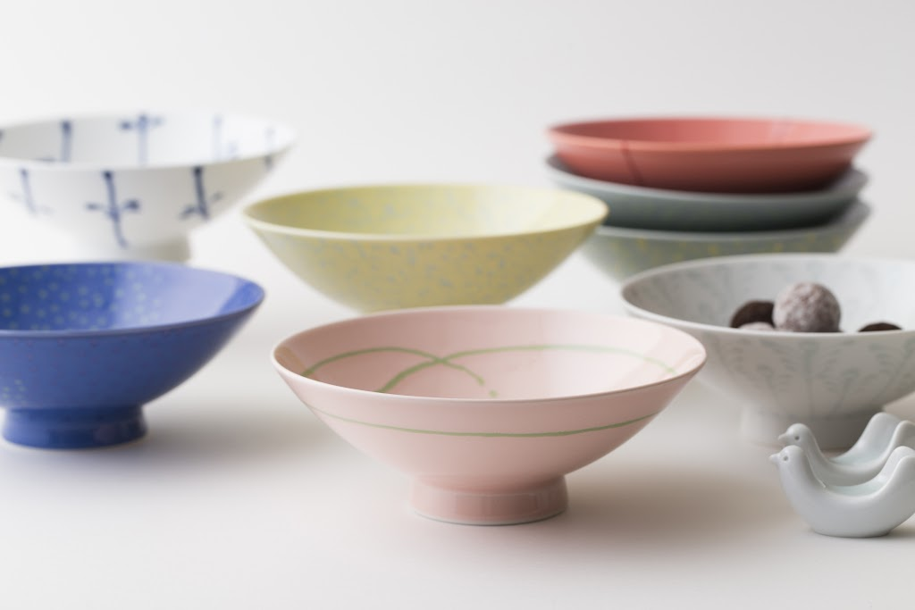 Hira-Chawan Flat Bowl (cherry x center line)
