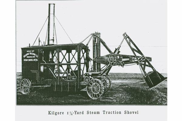 Chiếc máy xúc đầu tiên ra đời năm 1880
