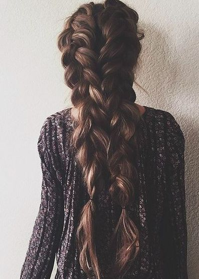 long hair -A collection of ideas for braided hair In 2017 6