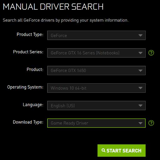 update driver nvidia