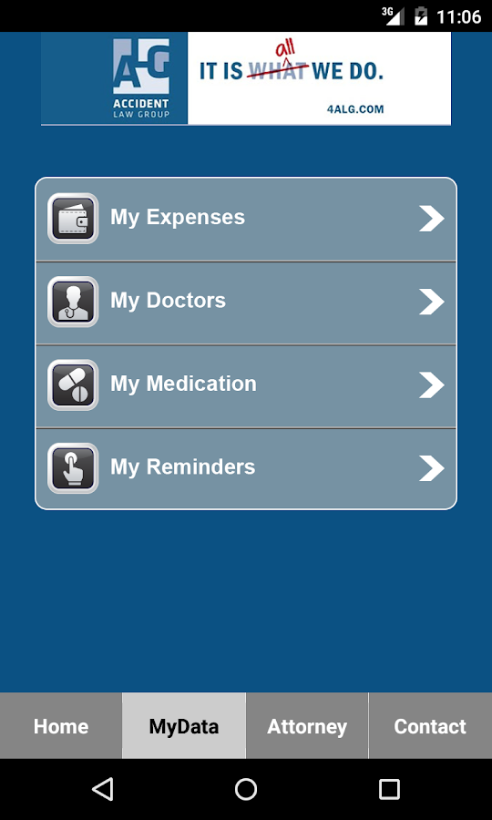 Accident Law Group App- screenshot