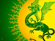 Dragon Background Green