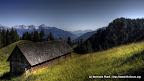 Loegeralm (1345 m) am Weg zum Dolomitensteig