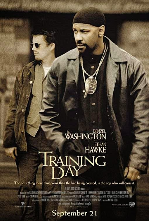 Poster Of Training Day (2001) Full Movie Hindi Dubbed Free Download Watch Online At Alldownloads4u.Com