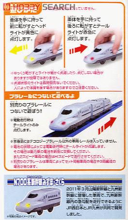 Mô hình Tàu hỏa có đèn Mizuho Serie N700 chạy bằng đẩy tay