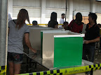 The polling booth was still visible to the observer making the process of casting the vote open to public view in some cases.