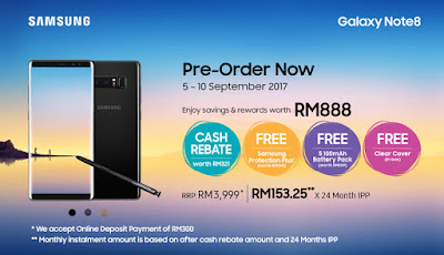 Samsung Galaxy Note 8 Pre-Order Price Malaysia Launch