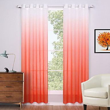 Cortinas cortinas naranja gradiente for Cortinas naranjas
