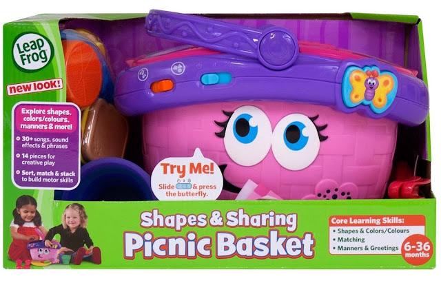 Đồ chơi Giỏ picnic màu hồng LeapFrog phù hợp cho trẻ từ 6 - 36 tháng tuổi