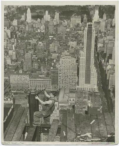 Construction de l'Empire State Building par les Sky Boys