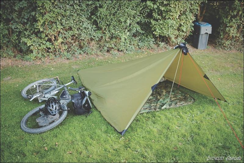 testing the tarp tent