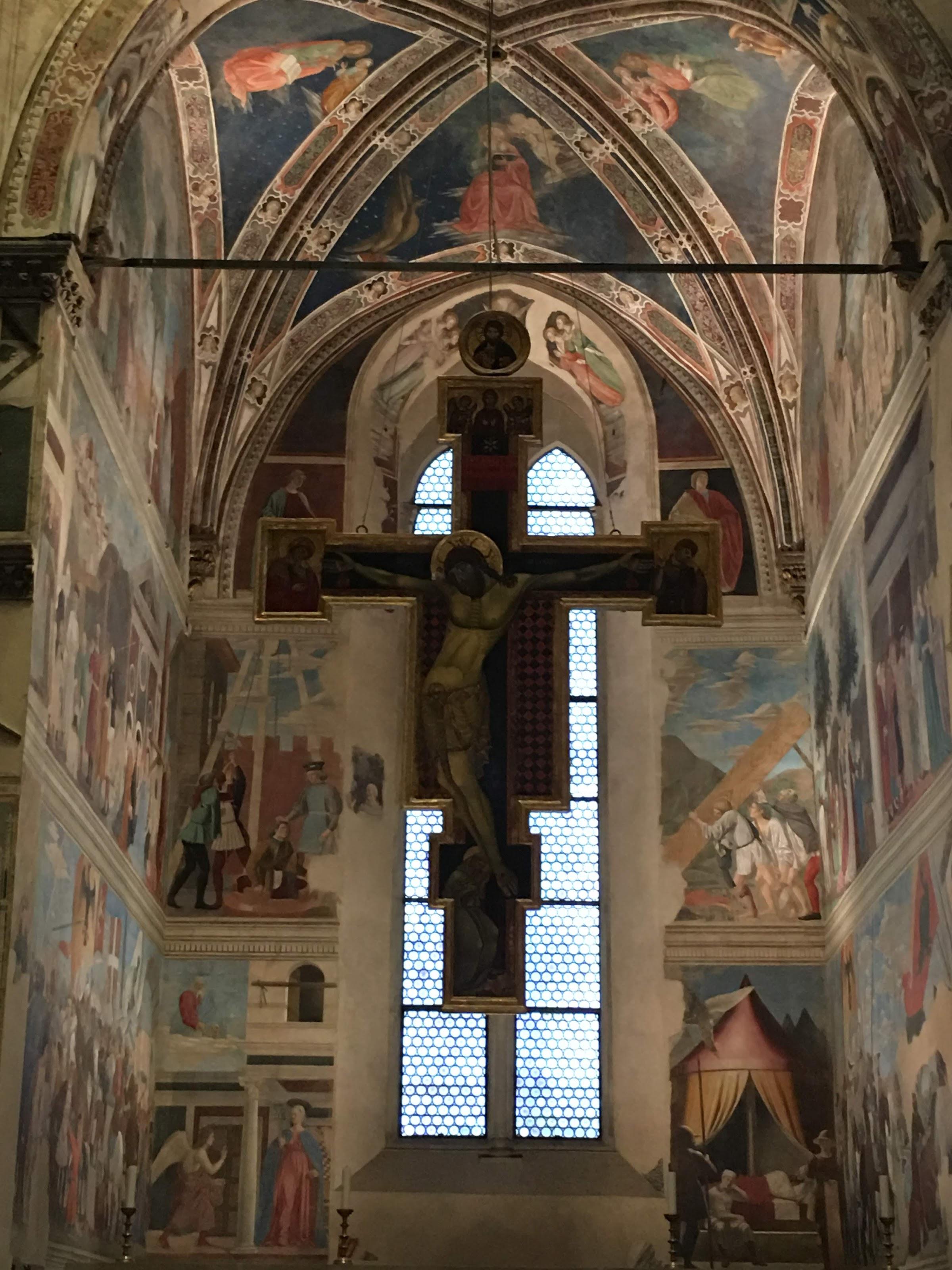 Le Storie della Vera Croce di Piero della Francesca, Capella Bacci nella Basilica di San Francesco, Arezzo