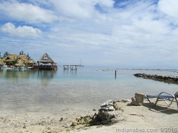 Roatan, Honduras while we were on our snorkeling trip.