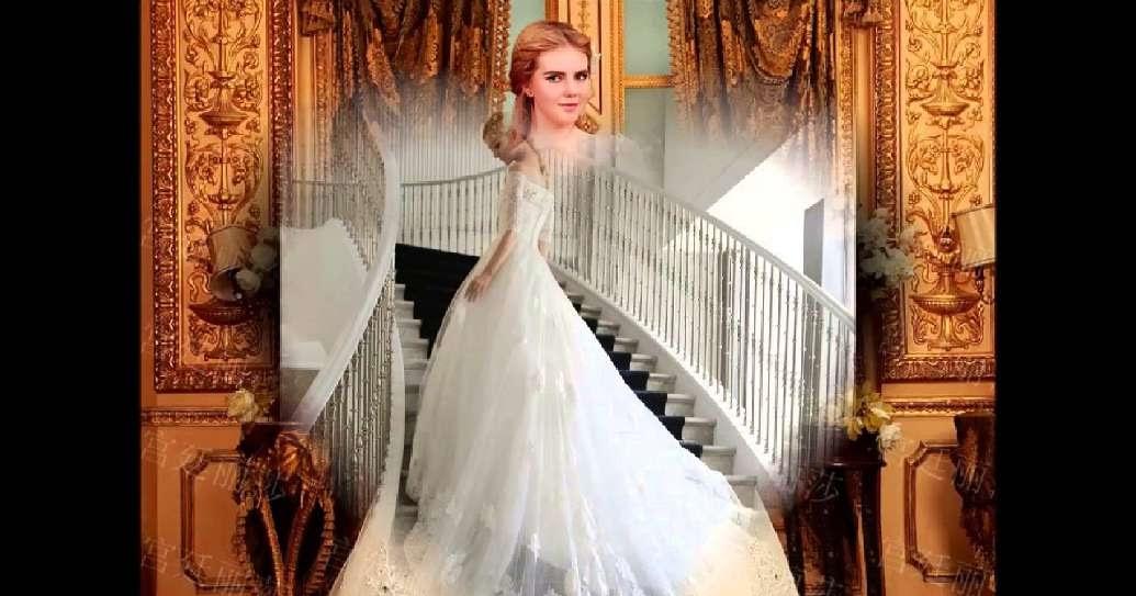 3a9d93a802d84 اجمل فساتين زفاف للمحجبات 2016