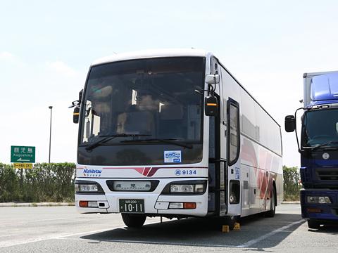 西鉄高速バス「桜島号」 9134 北熊本SAにて