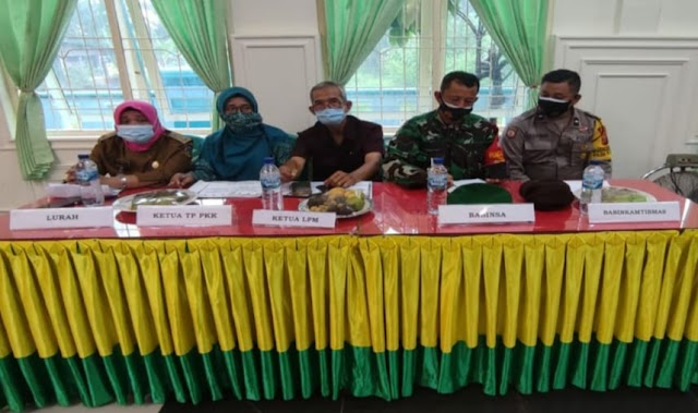 Polsek Padang Hulu Resor Tebing Tinggi Giat Pengamanan Lomba Desa/Kelurahan Provinsi Sumut 2021