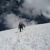 Fotos da ascensión ó Vallunaraju, na Cordillera Blanda dos Andes, no Perú.