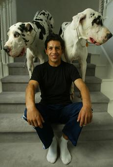 Victor Espinoza and his dogs