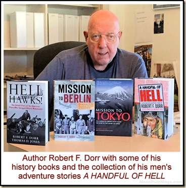 Robert F. Dorr with 4 of his bookS