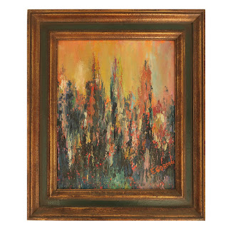 E. Gordon Signed Abstract Expressionist Painting