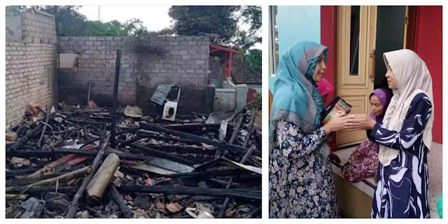 Fatayat NU Purwakarta jenguk serta galang bantuan untuk korban kebakaran Sumurugul