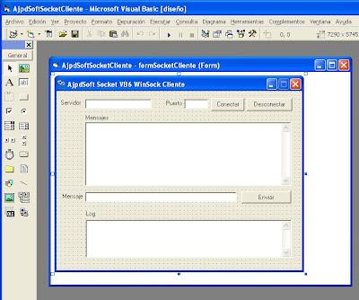 Aplicación cliente para conexión por socket con Visual Basic 6