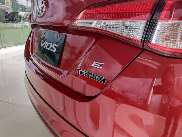 PHOTOS: 2019 Toyota Vios 1.3E Prime - Red Mica Metallic