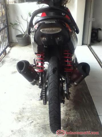 Modifikasi Honda Supra 125 Semi Road Race ala M Cesar