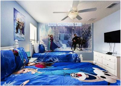 Desain Kamar Tidur Anak Frozen
