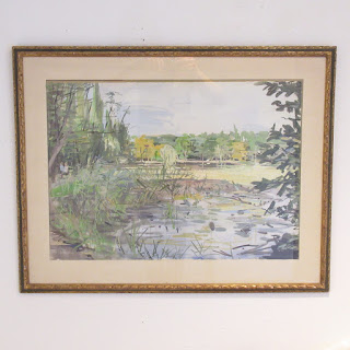 J.P. Manship Signed Watercolor Painting