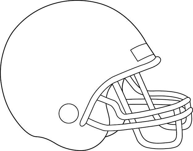 Blank Football Helmet Coloring Page Getcoloringpages