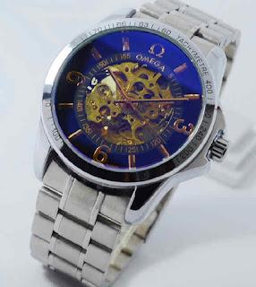 Jam tangan OMEGA otomatis silver chain black