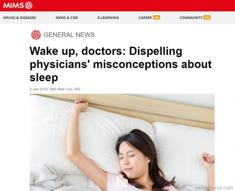 MIMS sleep medicine