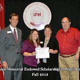 Scholarship Ceremony Fall 2013