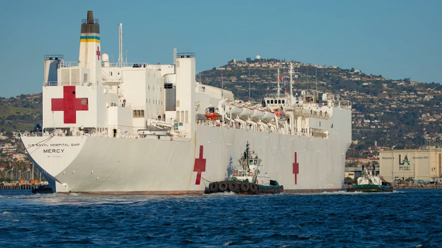 California Democrat Asks Newsom To Bring U.S. Navy Hospital Ship Back To Port Of L.A. To Relieve SEIU Workers