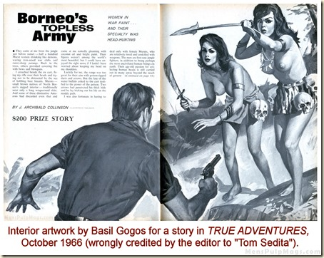 TRUE ADVENTURES, Oct 1966. Basil Gogos (as Tom Sedita)