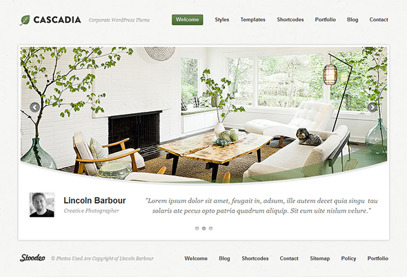 Cascadia WordPress Theme for business websites