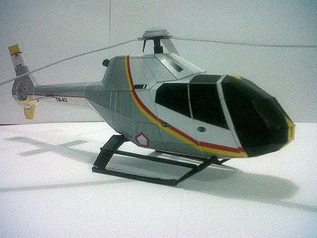 Eurocopter EC120 Colibri Papercraft Helicopter