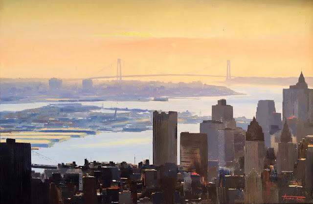 new york II, pintura al oleo de cristobal perez garcia