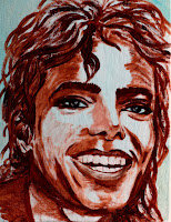 smiling Michael Jackson sepia