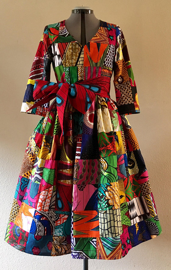 LATEST AFRICAN PRINT DRESSES FOR LADIES IN 2018 4