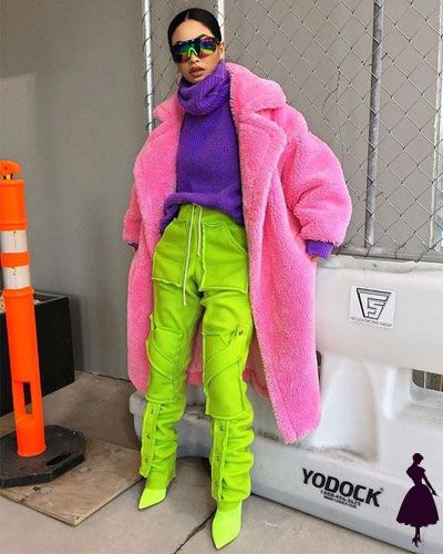 Color blocking in fall