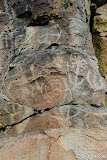More zoomorphic or anthropomorphic petroglyphs mixed in with some abstract.