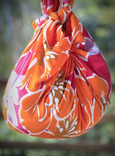 bolsa feita com canga