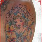 all my love sailor - Face Tattoos