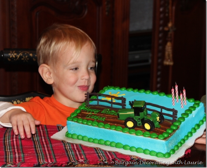 Tractor Birthday Cake for Cooper